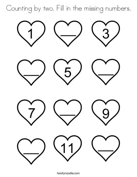 Counting by two Fill in the missing numbers Coloring Page ...