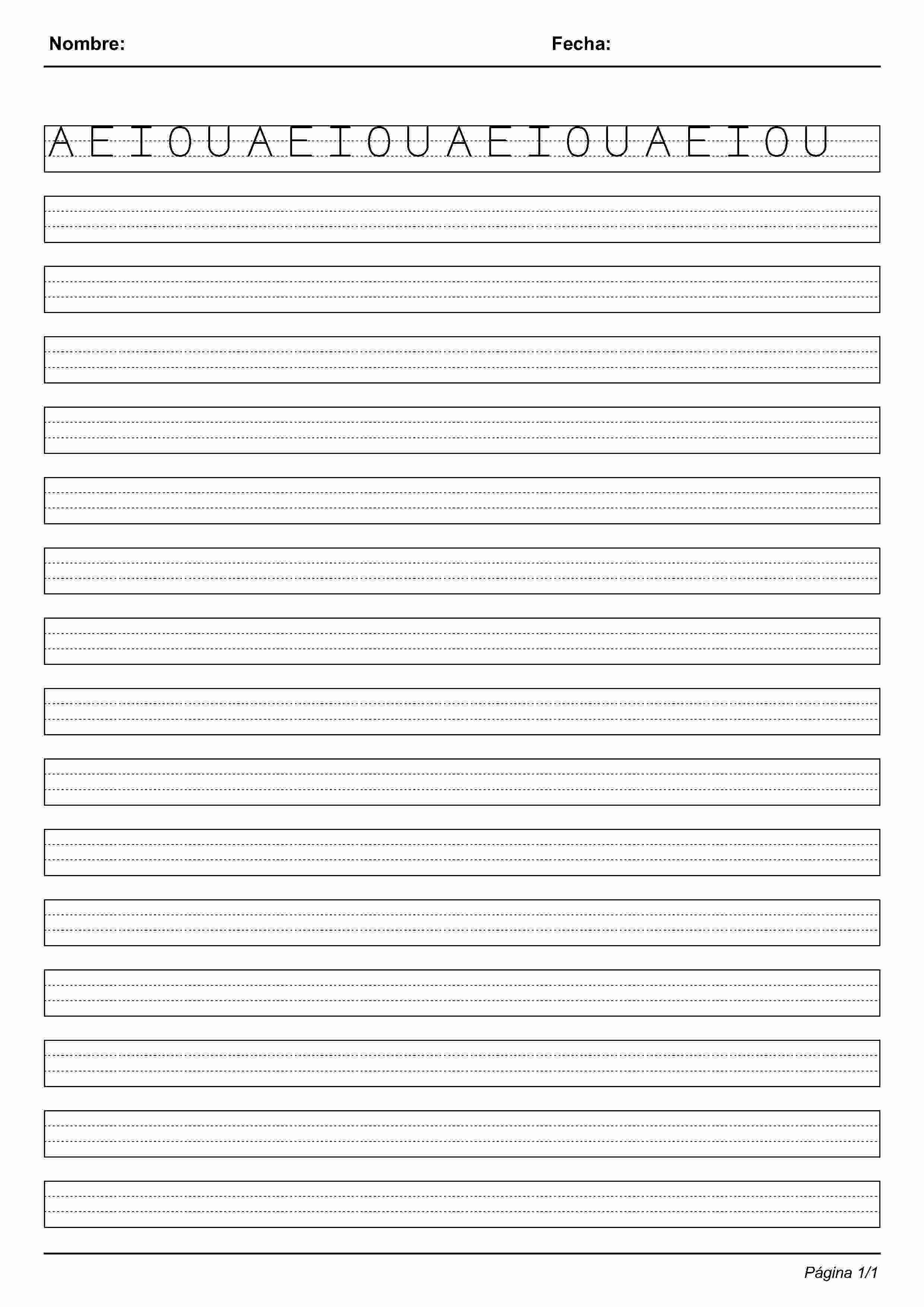 Montessori Handwriting Sheets Printables