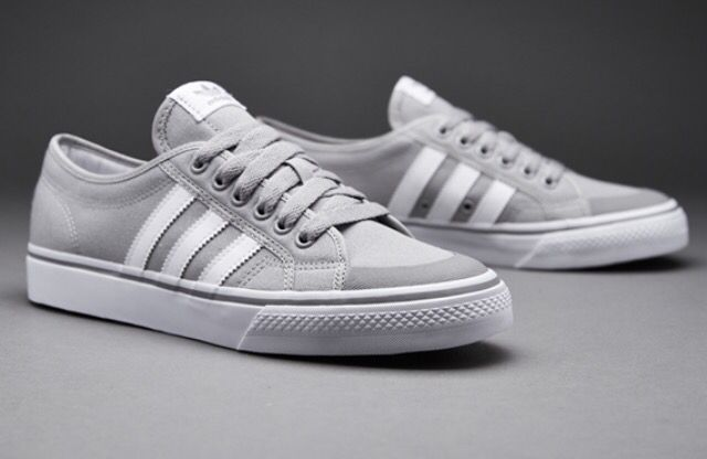 adidas Nizza Trainers in White /& Black canvas pumps 3 stripe retro