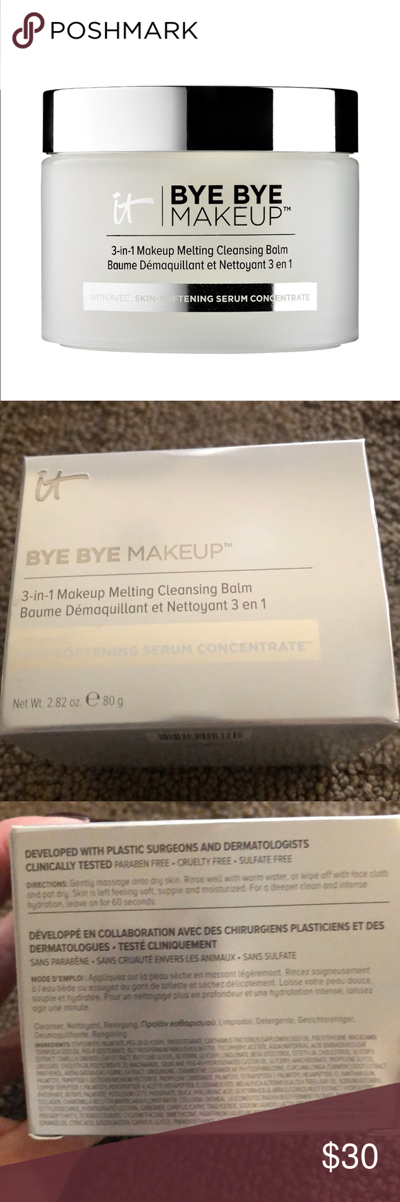 It cosmetics bye bye makeup new Sulfate free cleanser