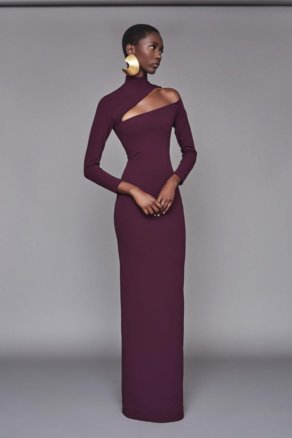 00bd9e9fff5 Solace London Ares Dress Aubergine