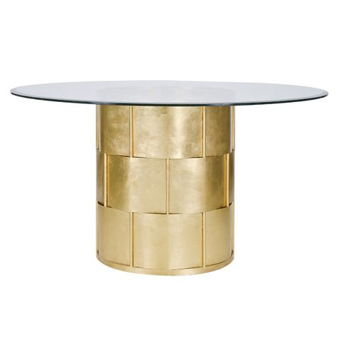 metal dining room table bases gold leafed base diameter beveled glass top only modern