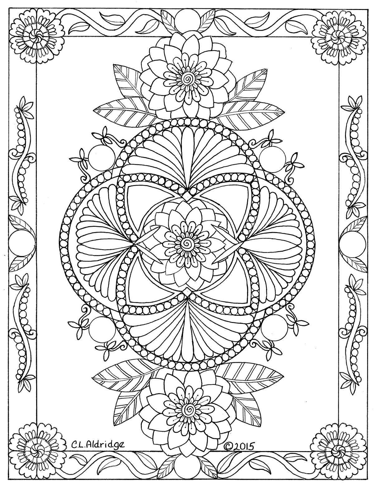 Possible tattoo design Pattern coloring pages, Mandala