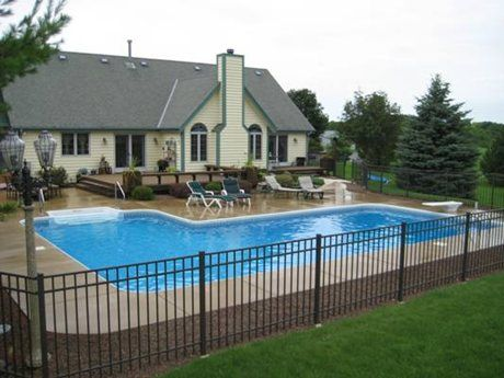L Shaped Swimming Pool Wisconsin L Shapes Pool Designs