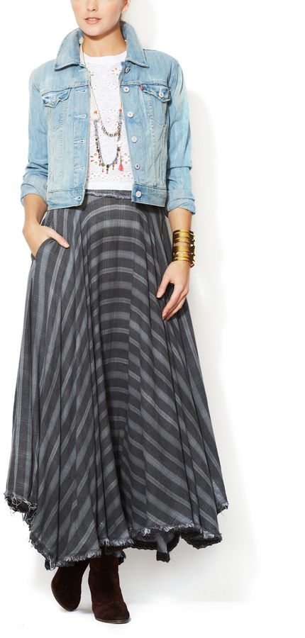 Free People Cotton Maxi Skirt on shopstyle.com