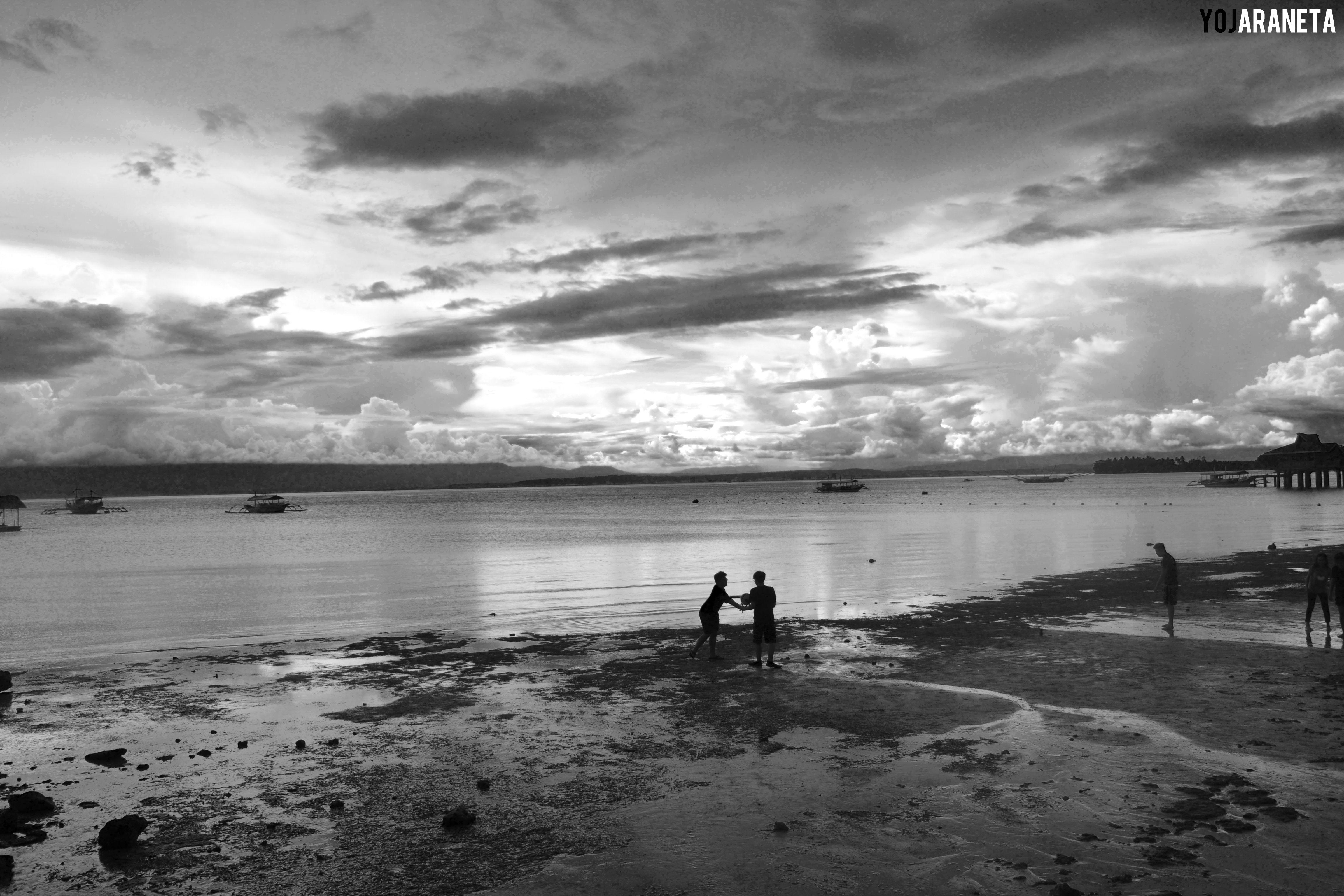 At Jorona Beach Resort Samal Island Black And White