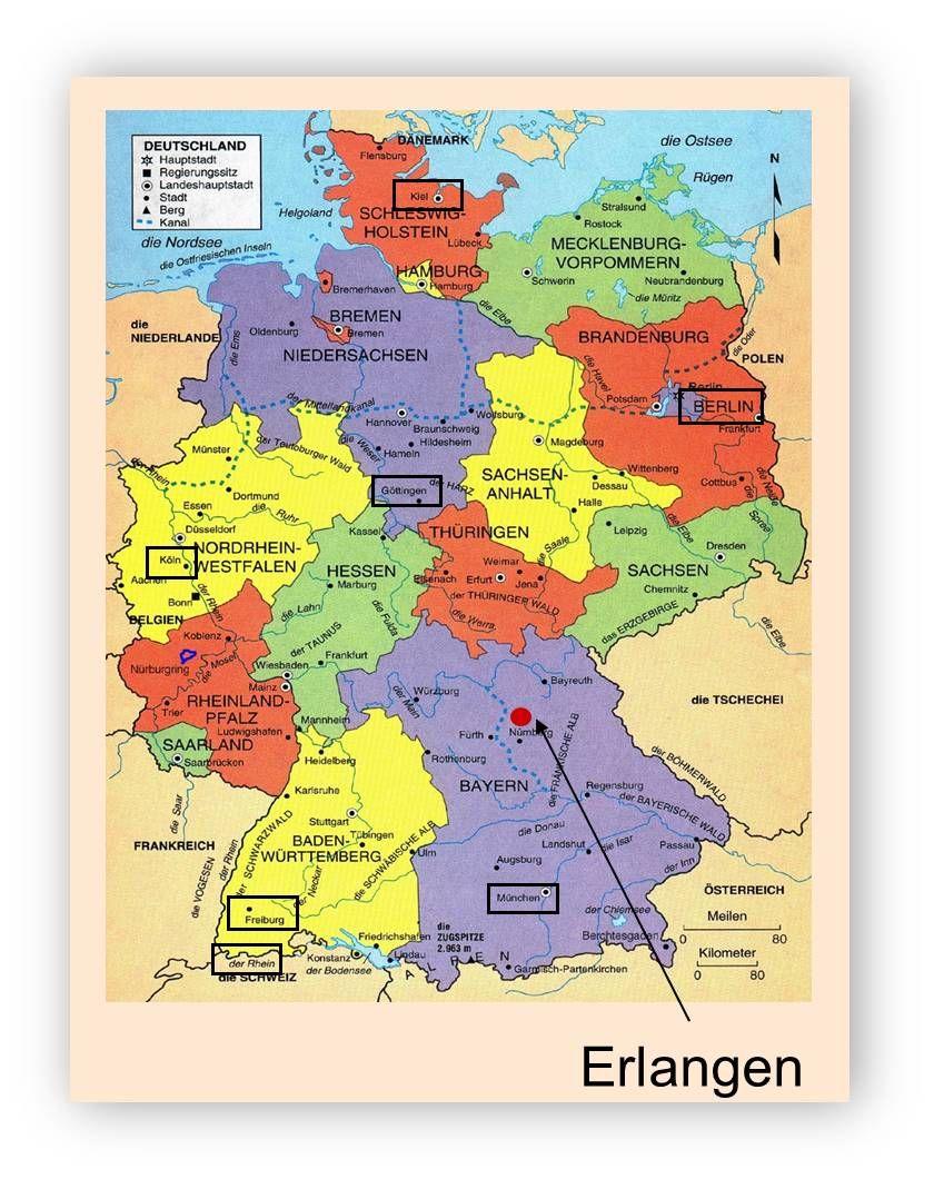 UAB Graduate Biomedical Sciences UABErlangen Exchange Program - Erlangen map
