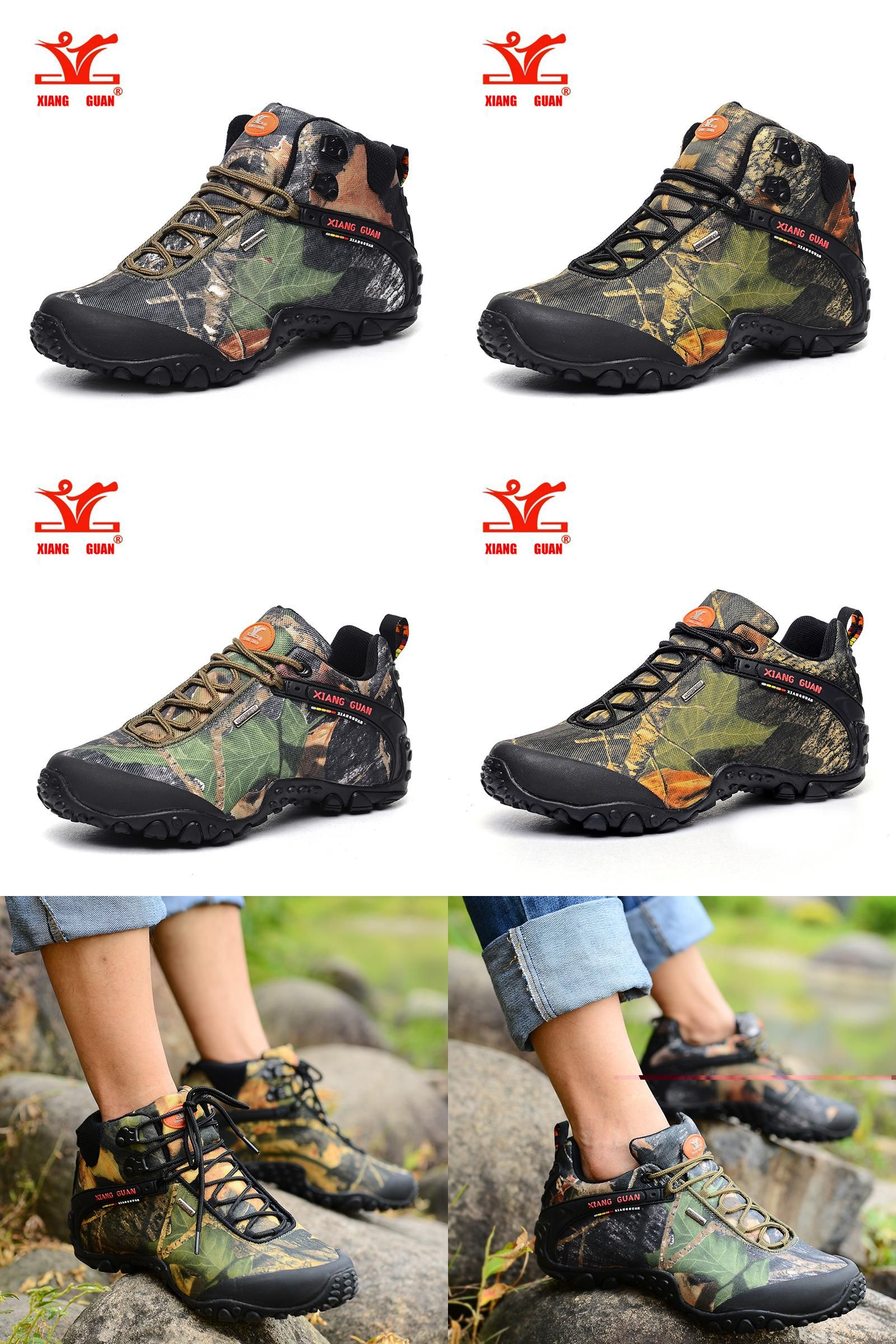[Visit to Buy] XiangGuan brand men and women outdoor Hiking shoes  waterproof canvas sport