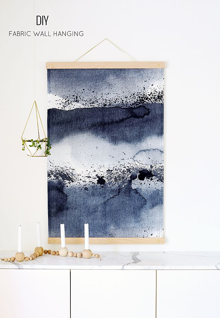 DIY Wall Hanging - the fabric is prebought. The Tutorial is for how ...