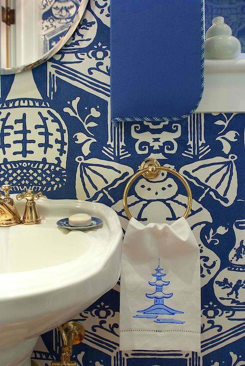 Delicate Pagoda Towel David Hicks The Vase Wallpaper Towels