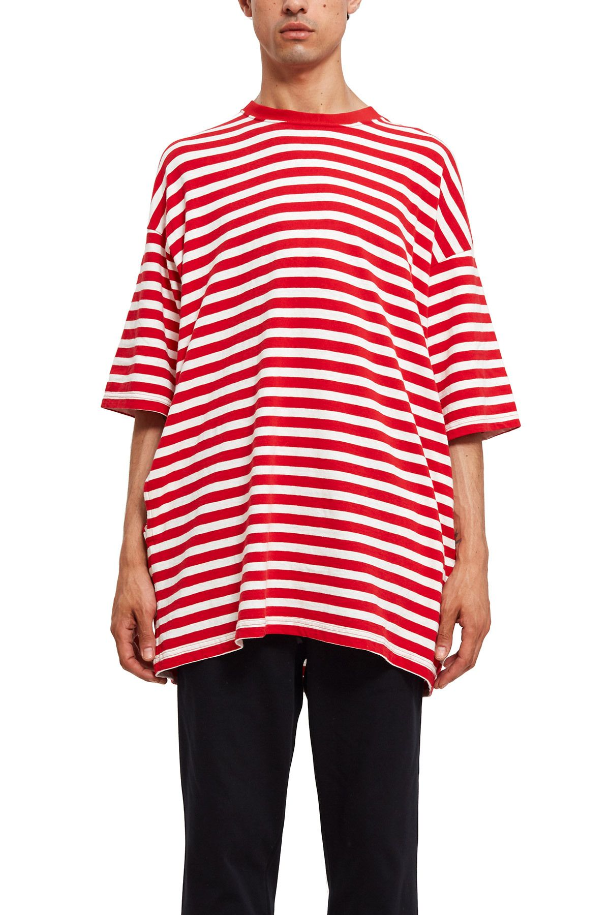 b253684b884 UNDERCOVER, Oversized Stripe Tee This oversized tee comes in a boxy ...