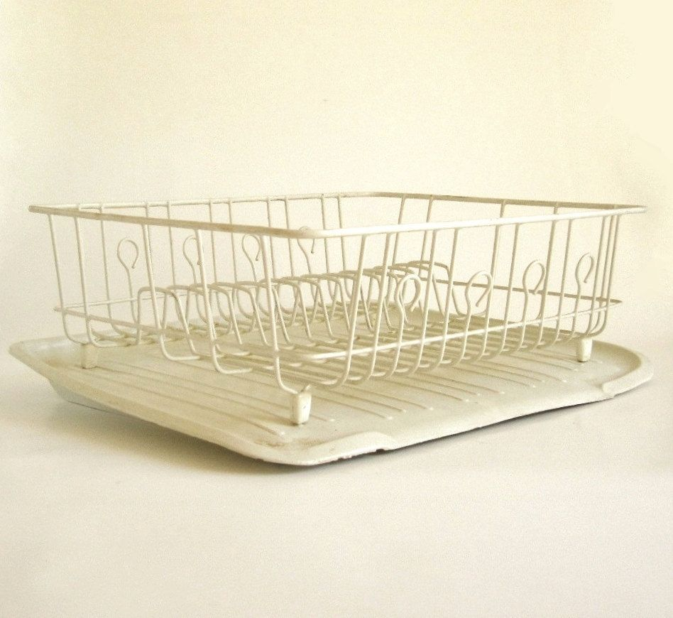 New To LaurasLastDitch On Etsy: Rubbermaid Dish Drying Rack Drainboard Mat  Tray 1182 Ivory White