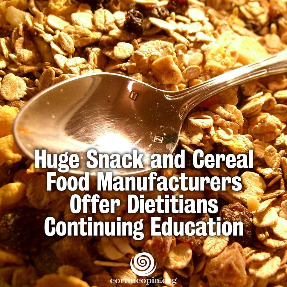 Marketing chips and other processed snack foods, sodas, and sugary GMO cereals to registered dietitians is part of big business. More here: http://www.cornucopia.org/2014/03/huge-snack-cereal-food-manufacturers-offer-dietitians-continuing-education #Cereal #dietitians #GMOs #junkfood #GMA
