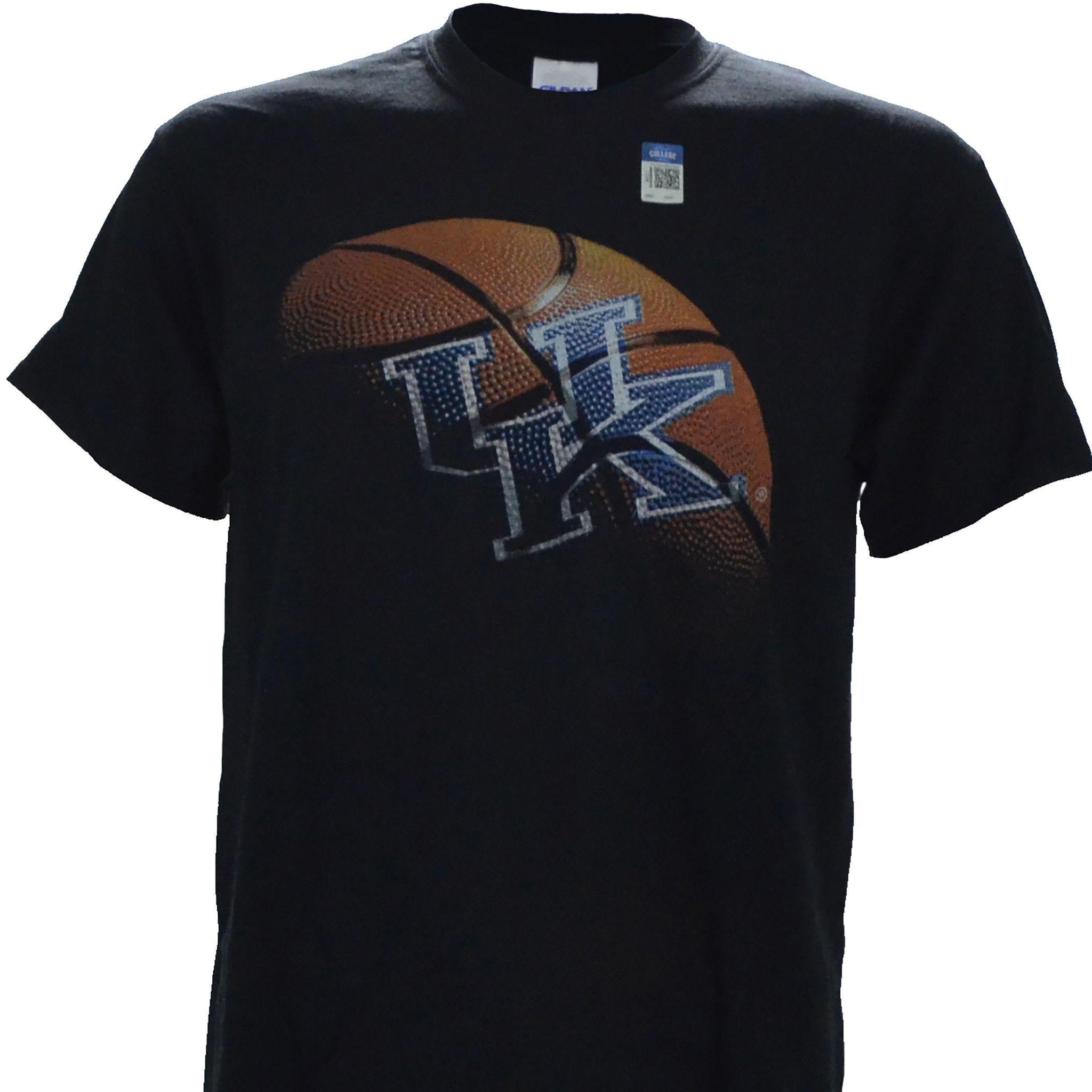University of Kentucky UK REAL BALL on a Black Short Sleeve T Shirt
