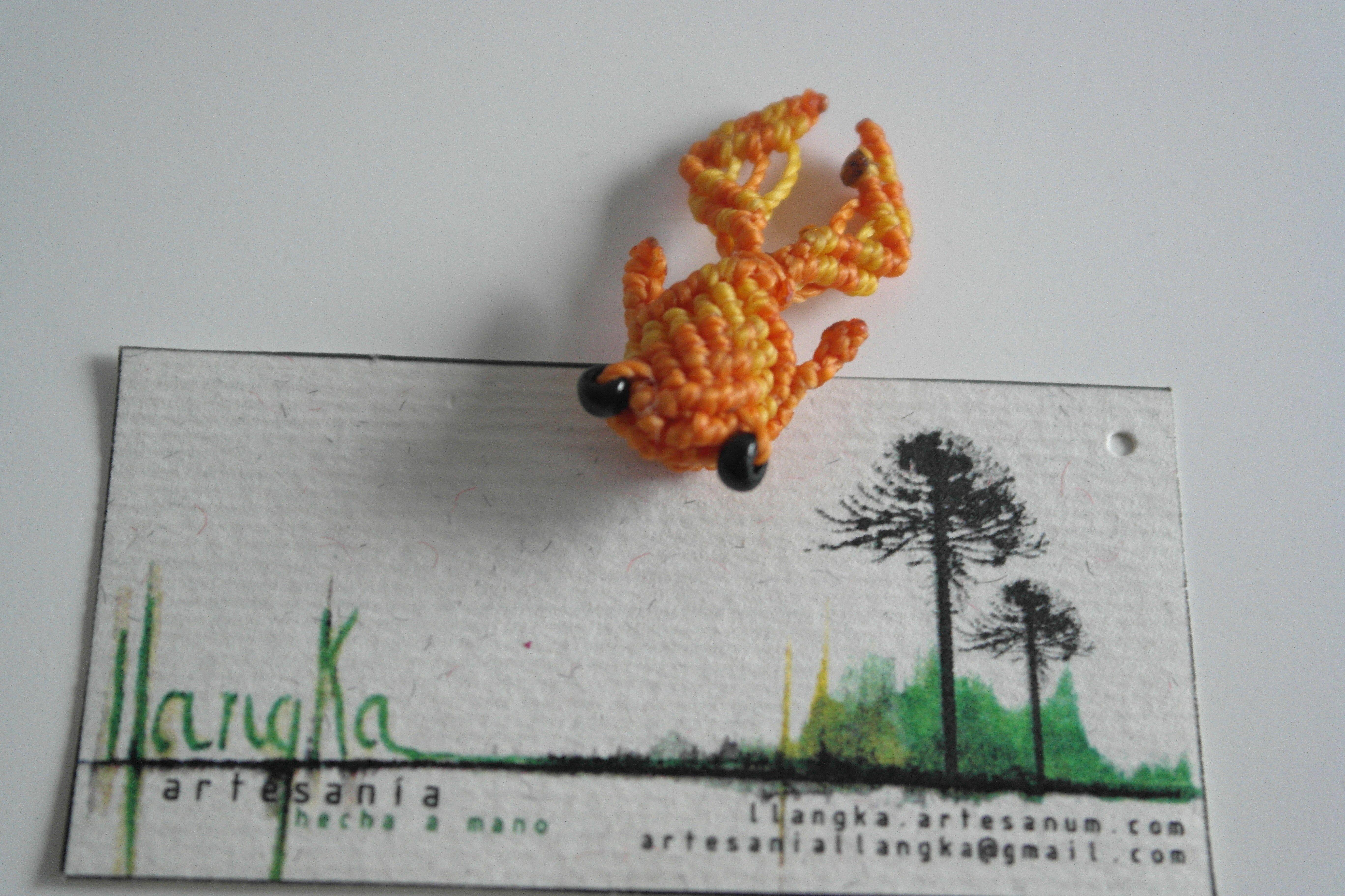 pececillo goldfish de macramé