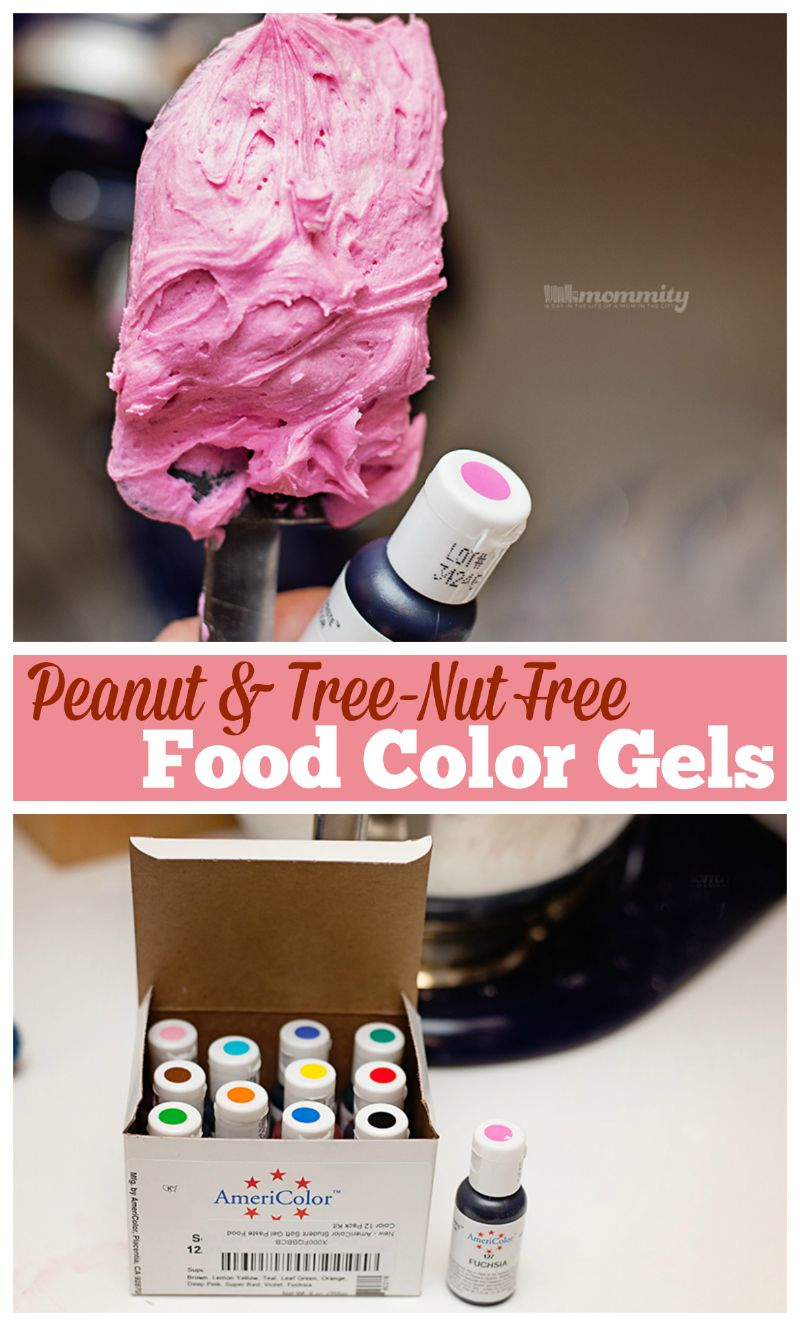 Food coloring icing gels peanut safe alternative to