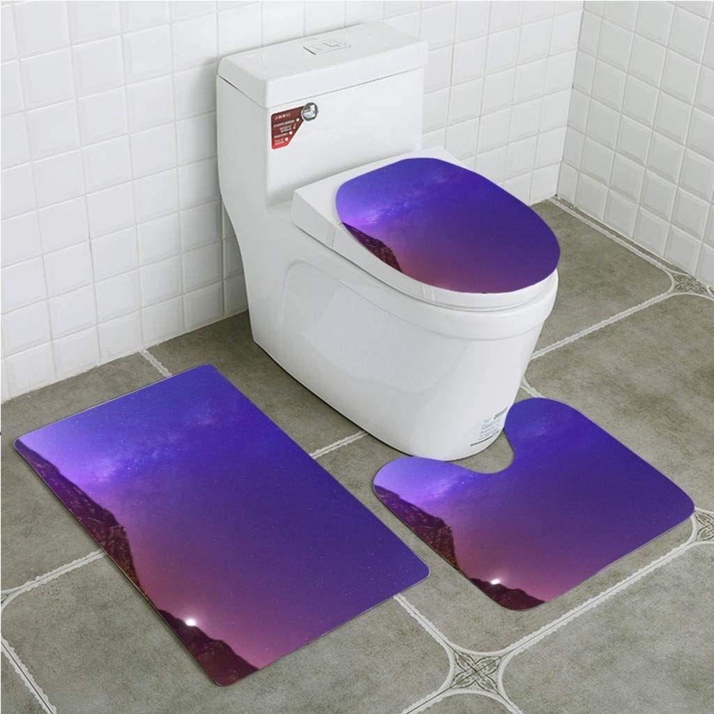 Mountains At Night Milky Way Galaxy 3 Piece Bathroom Rugs Set Bath Rug Bath Bathroom Gal Bathroom Rugs Bathroom Rug Sets Bath Rug [ 1024 x 1024 Pixel ]