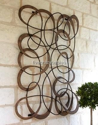 large horchow outdoor mingling circles wall art decor plaque patio garden metal ebay - Patio Wall Decor
