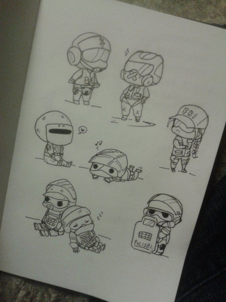 Characters From The Video Game Rainbow Six Siege Rainbow Drawing