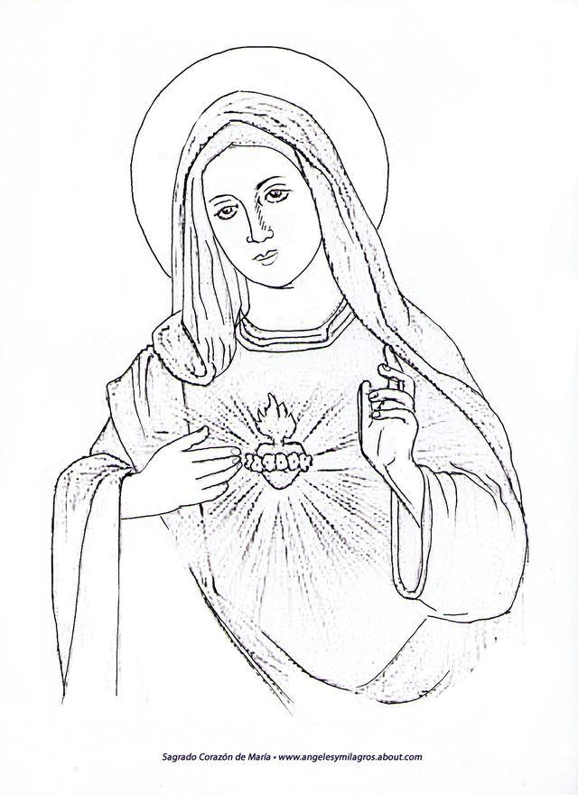 Inspirate A Pintar A La Virgen Maria Como Parte De Tu Practica Espiritual Dibujos De Jesus Virgen Maria Dibujo Arte De Jesus