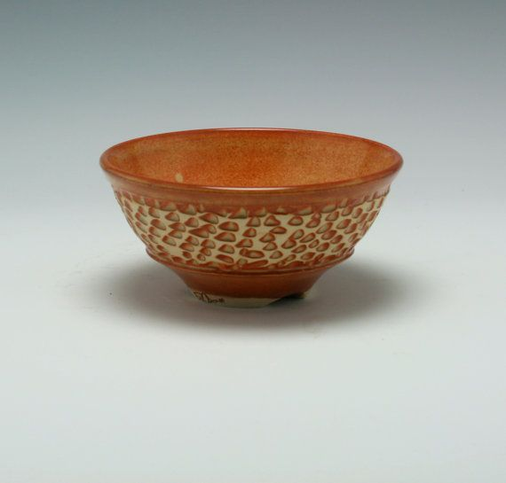 Handmade Ceramic Bowl In Orange Brown With Hand By Pcanpotter 25 50 Handmade Ceramics Ceramic Bowls Bowl