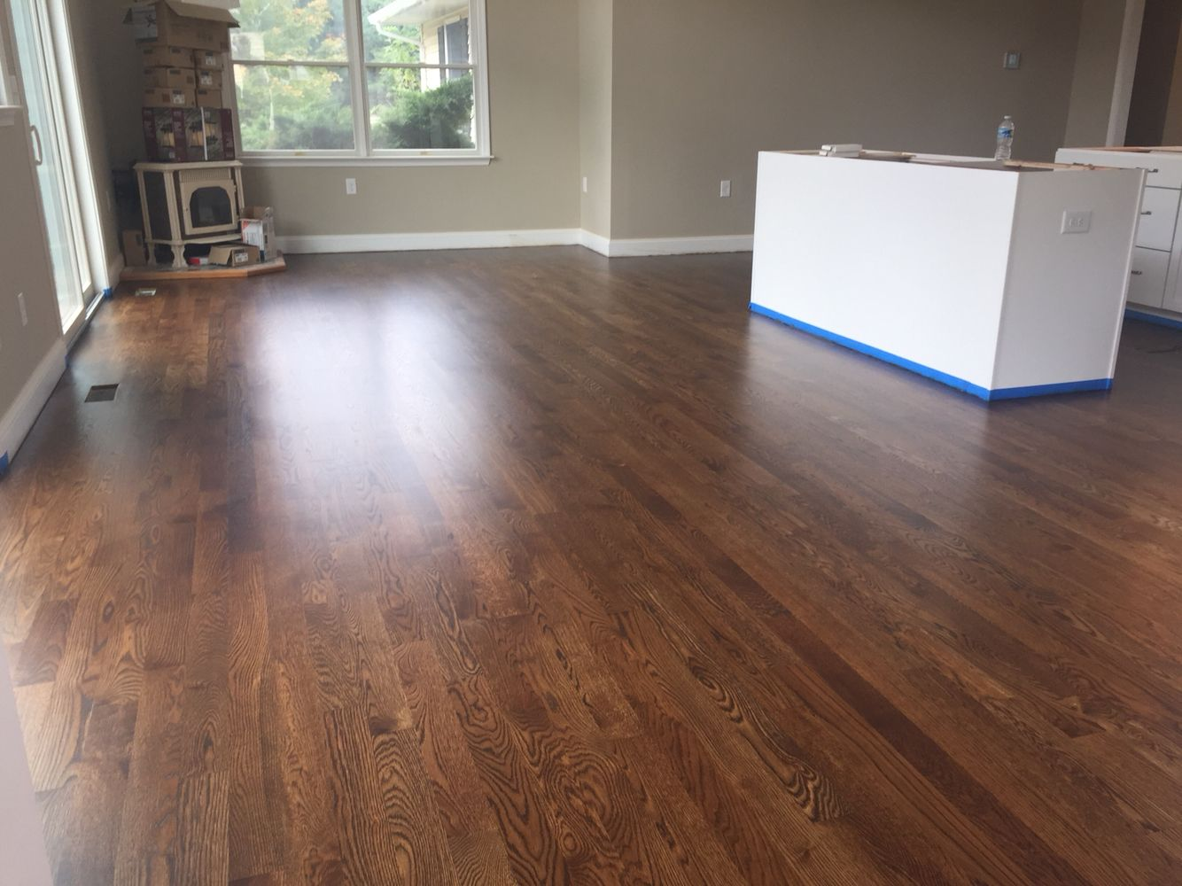 White oak with duraseal antique brown stain and Pallmann ...