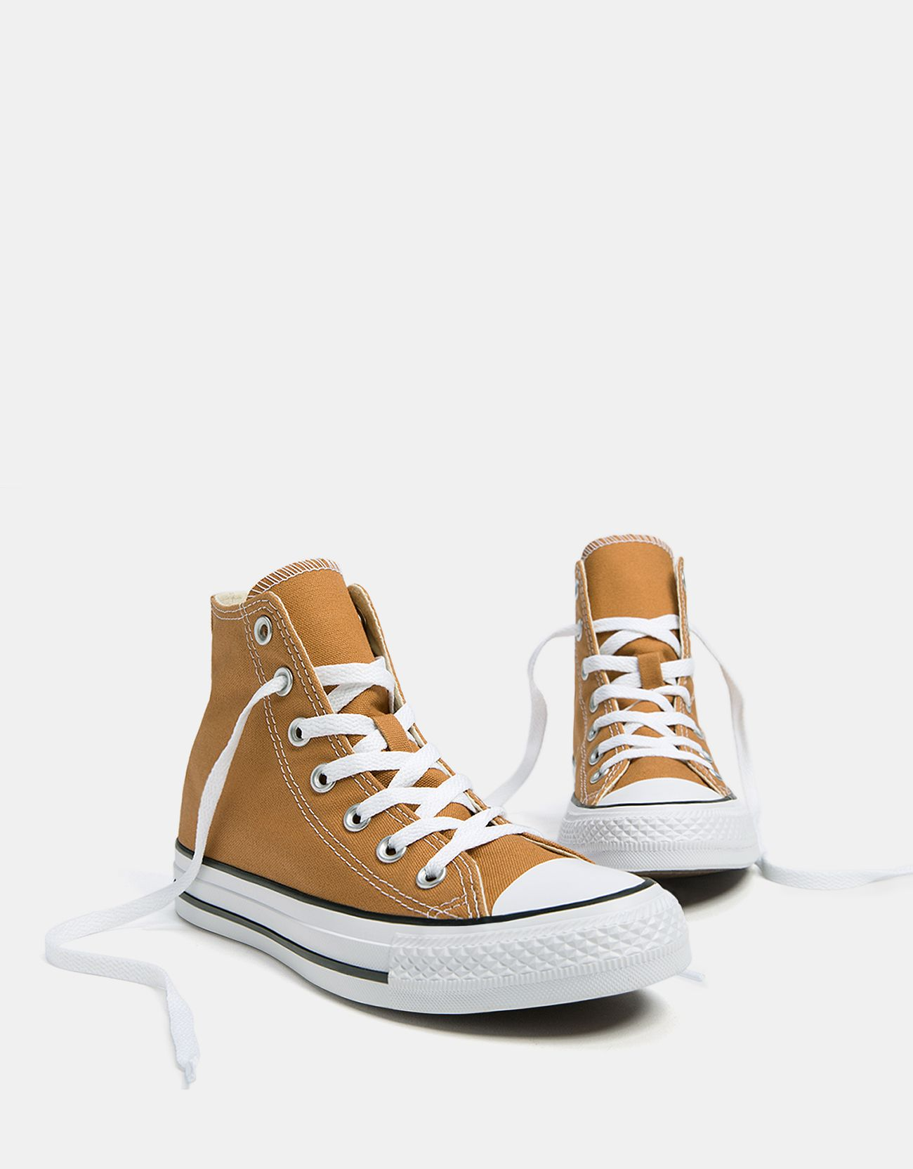 CONVERSE ALL STAR high top canvas sneakers.  Converse  Bershka  mustard b0f07eeca