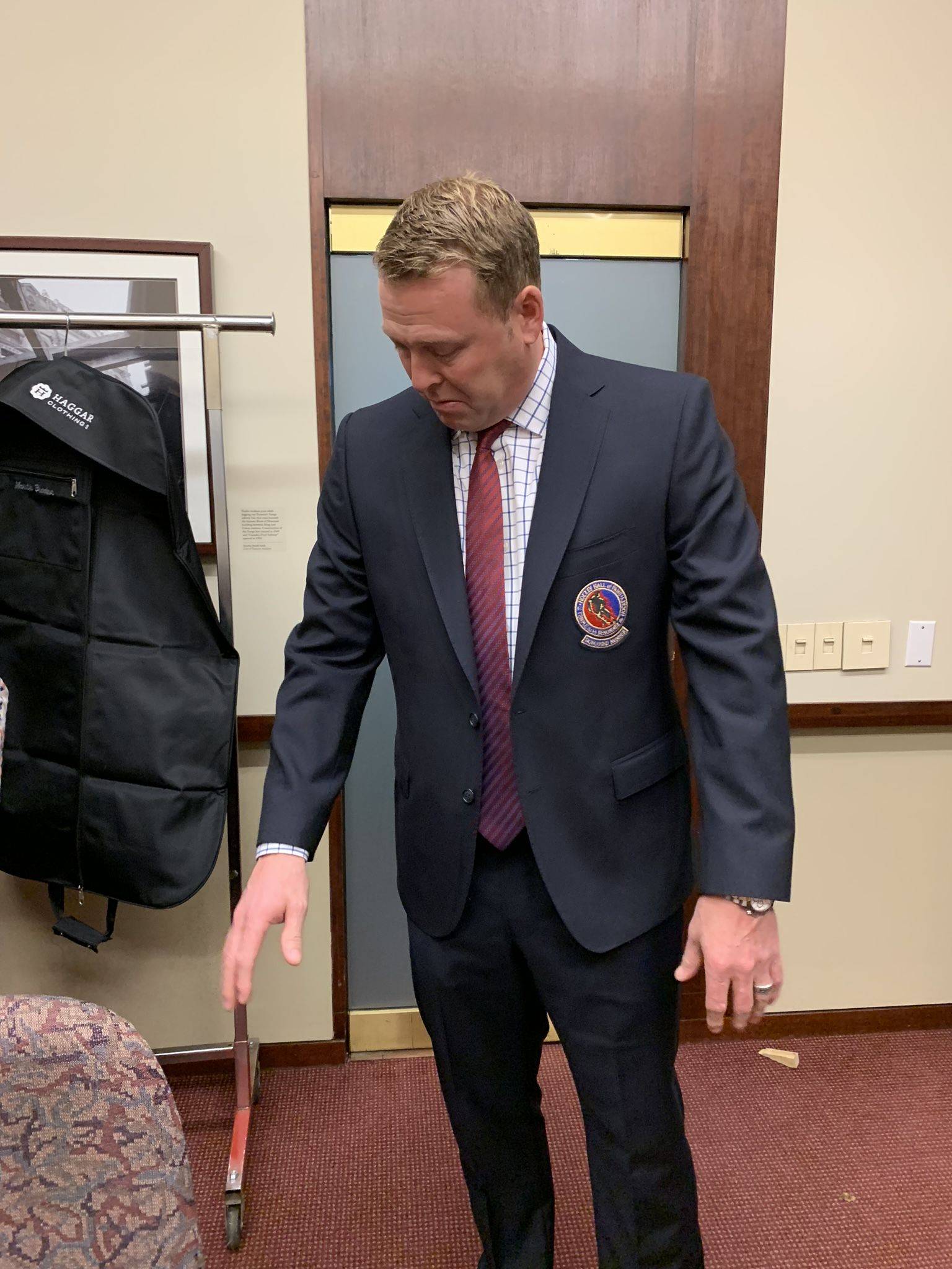 Martin Brodeur In A Perfect Fit In The Haggar Made Jacket Haggar