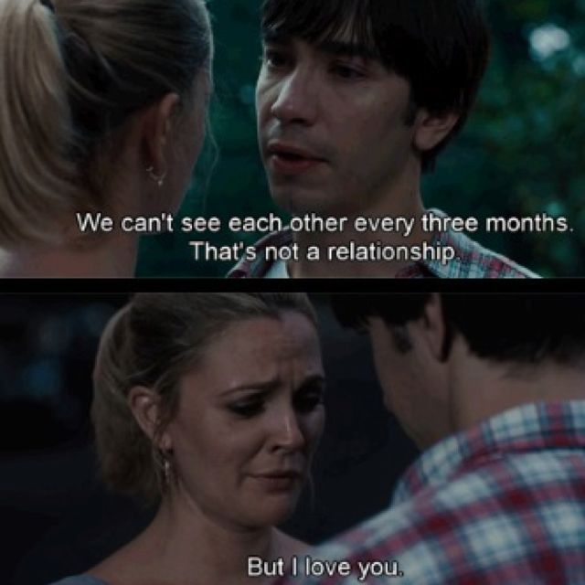 Going The Distance Couldn T Be More Relatable Romantic Films Movie Quotes Hopeless Romantic