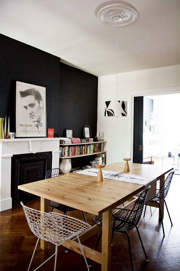 This Stunning Home Proves The Power Of A Black Accent Wall