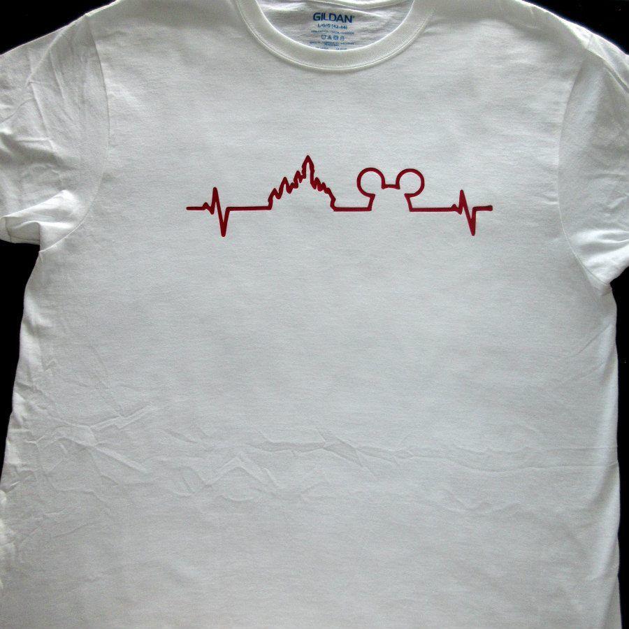 e21cf246 Men's Disney Heartbeat Shirt, Mickey Heartbeat, Disney Heartbeat, Disney  Shirt, Disney Trip Shirt, Mickey Shirt,Heartbeat Shirt,Mickey Mouse