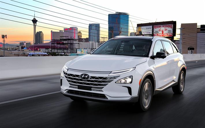 Télécharger fonds d'écran Hyundai NEXO, 4k, route, 2018 voitures