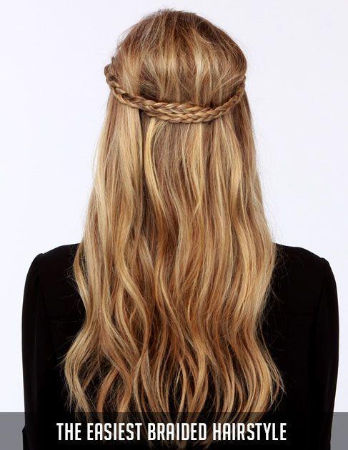 El peinado trenzado más fácil, #Braided #Easiest #Hairstyle