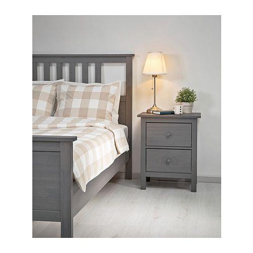 hemnes bettgestell grau lasiert lookoolook lit gris cadre de lit et structure de lit
