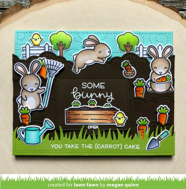 Megan's Some Bunny with a Surprise Card! - Lawn Fawn