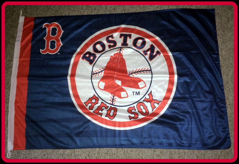 Boston Red Sox Good Stuff 28 X 42 Inch Flag Banner Free Shipping New Without Tag Goodstuff Bostonredsox Boston Red Sox Flag Banners American Flag Football