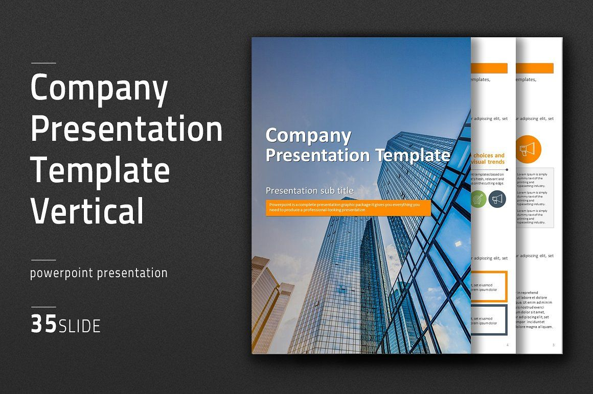 Company Template Vertical by Good Pello on @creativemarket