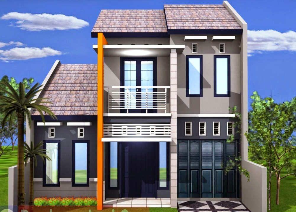 Tampak Depan Rumah Minmalis 2 Lantai Sederhana House House Plans House Design