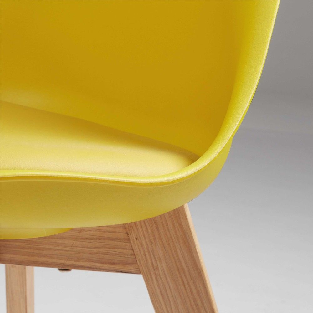 chaise scandinave jaune moutarde et chne massif - Chaise Scandinave Jaune