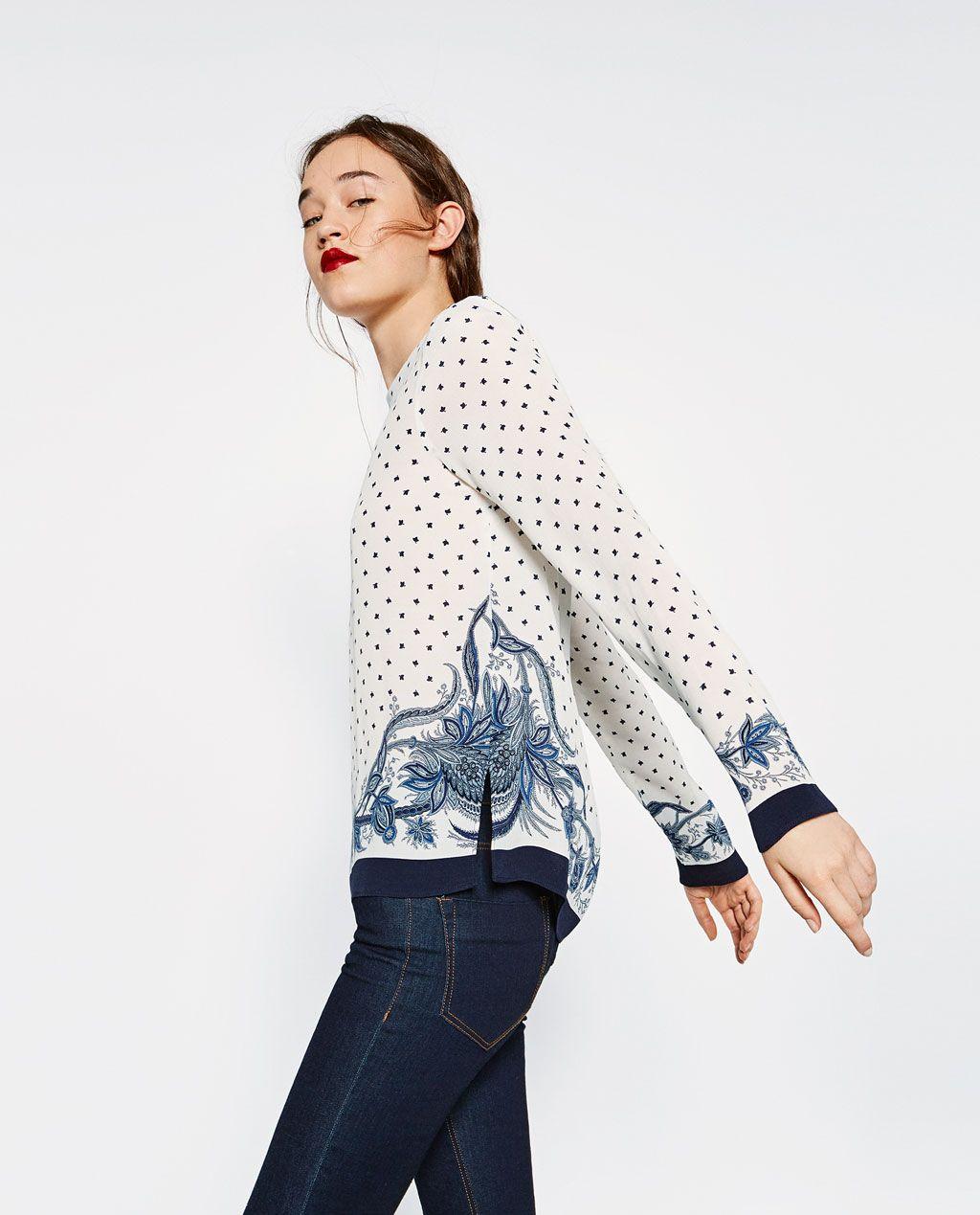 크롭트 셔츠-모두 보기-블라우스 | 셔츠-WOMAN-FW16 컬렉션 | ZARA 대한민국