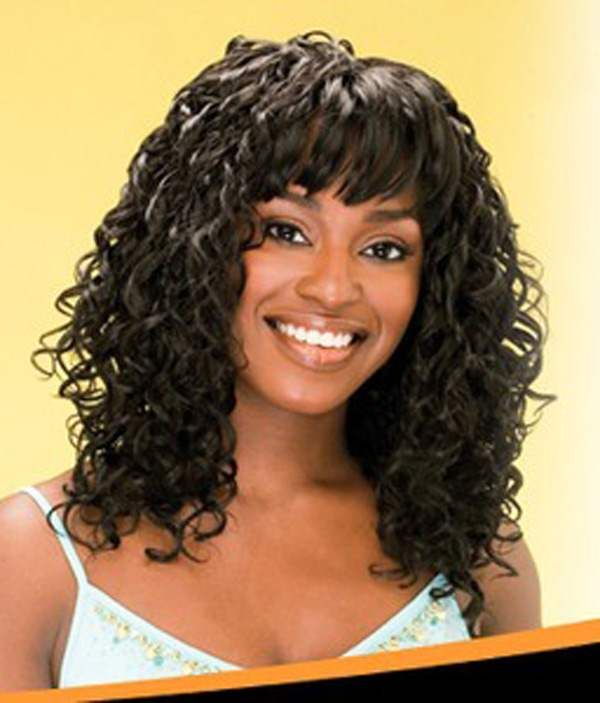 Curly Hairstyles With Bangs For Black Women Curly Hairstyles With