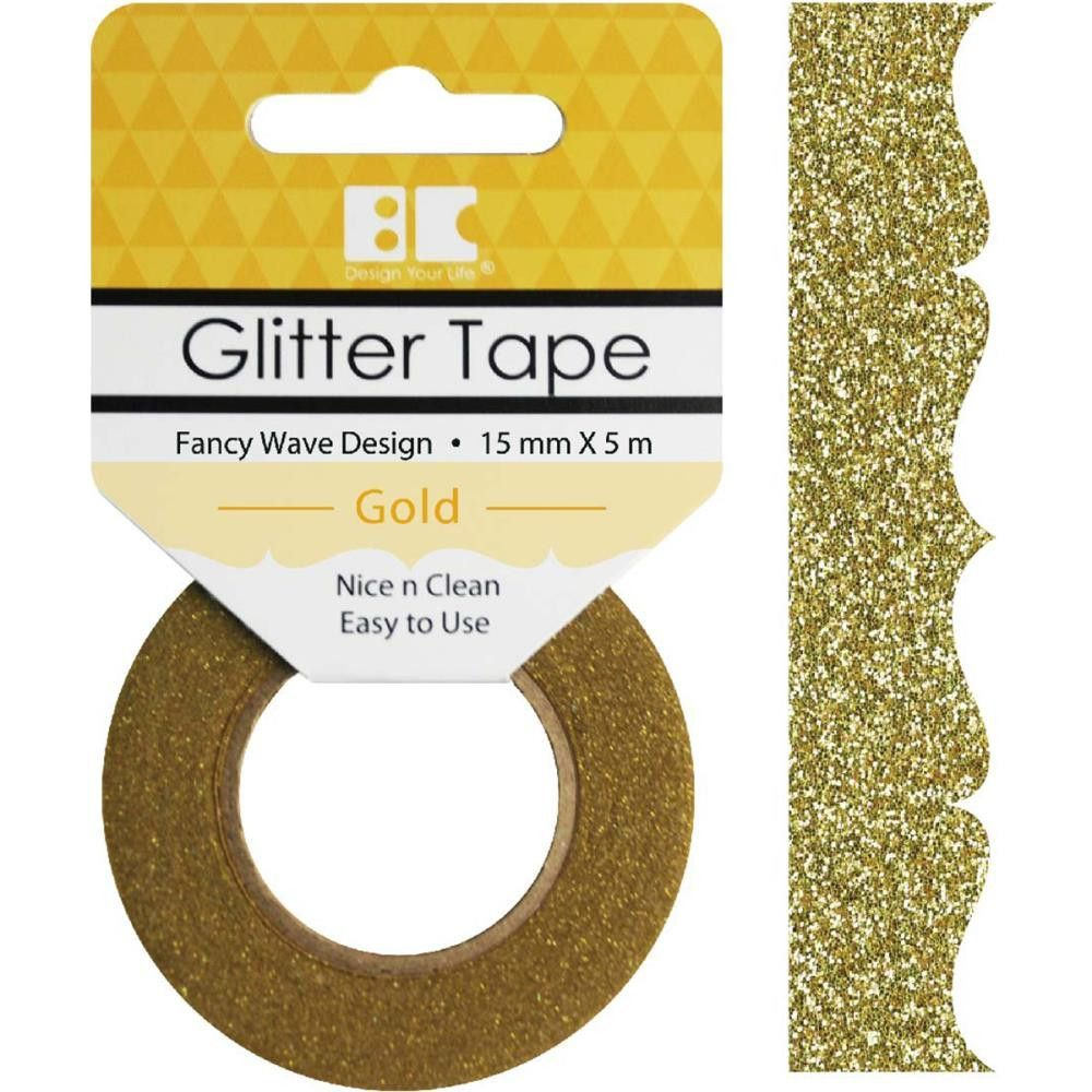 Gold Fancy Wave Best Creation Designer Glitter Tape
