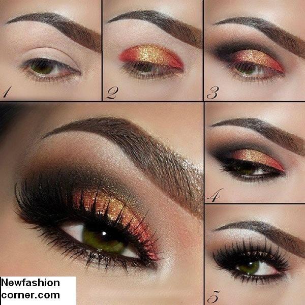 Brillo Ojos Idea de maquillaje para la Mujer