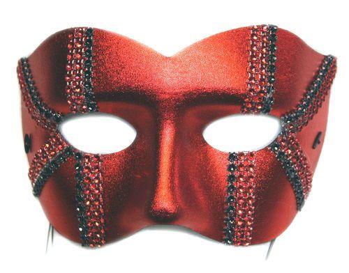 Red Brand New Mardi Gras Masquerade Male Pirate Mask