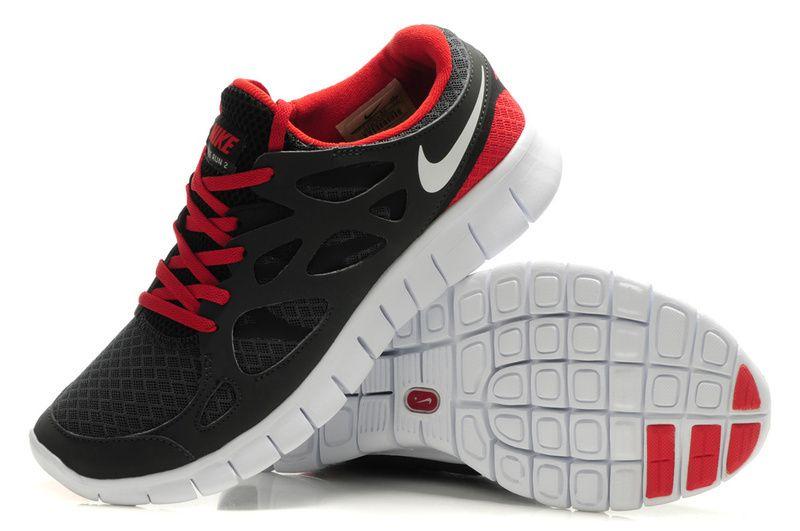 Nike Free Run 2 Mens Camisa De Rayas Rojas Y Blancas