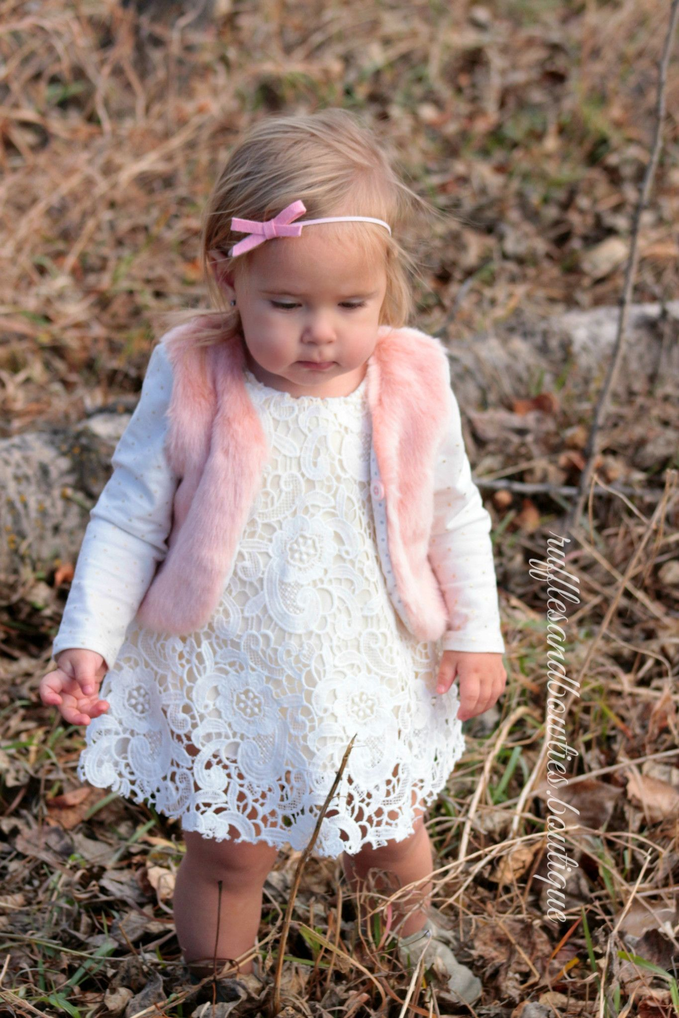 Baby Girl Boho Faux Fur Pink Fall Vests The Faux Fur Vest Baby