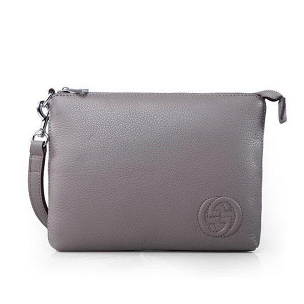 4c13f9738d9 Gucci Calfskin Leather Travel Case 322054 Khaki