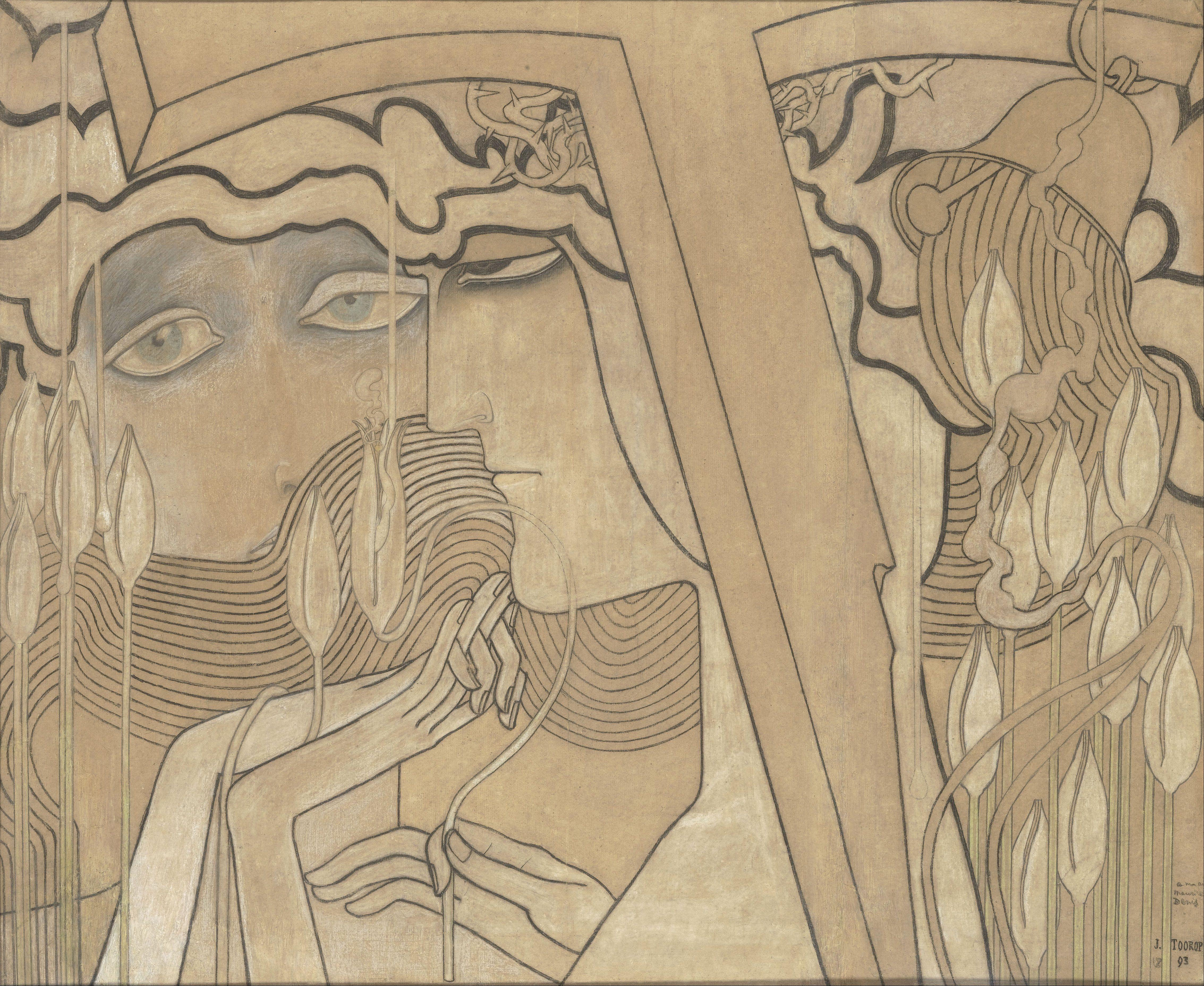 Jan Toorop - Desire and Satisfaction, 1893