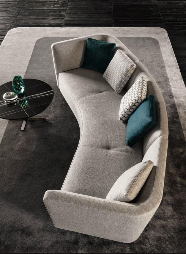 Minotti Seymour Lounge Canape Arrondi Mobilier De Salon