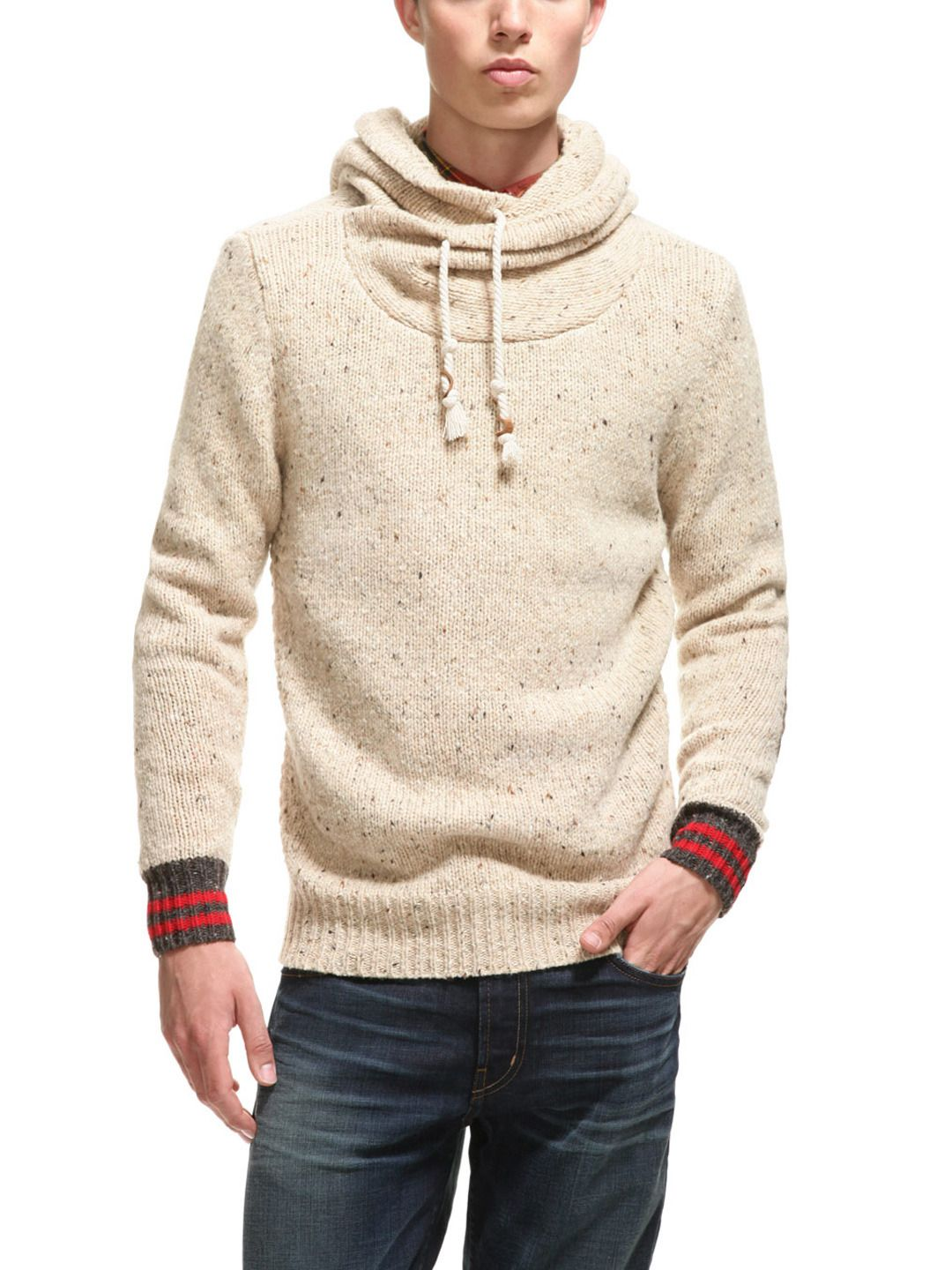 Scotch & Soda Wool Twisted Neck Hood Sweater, love the style, not ...
